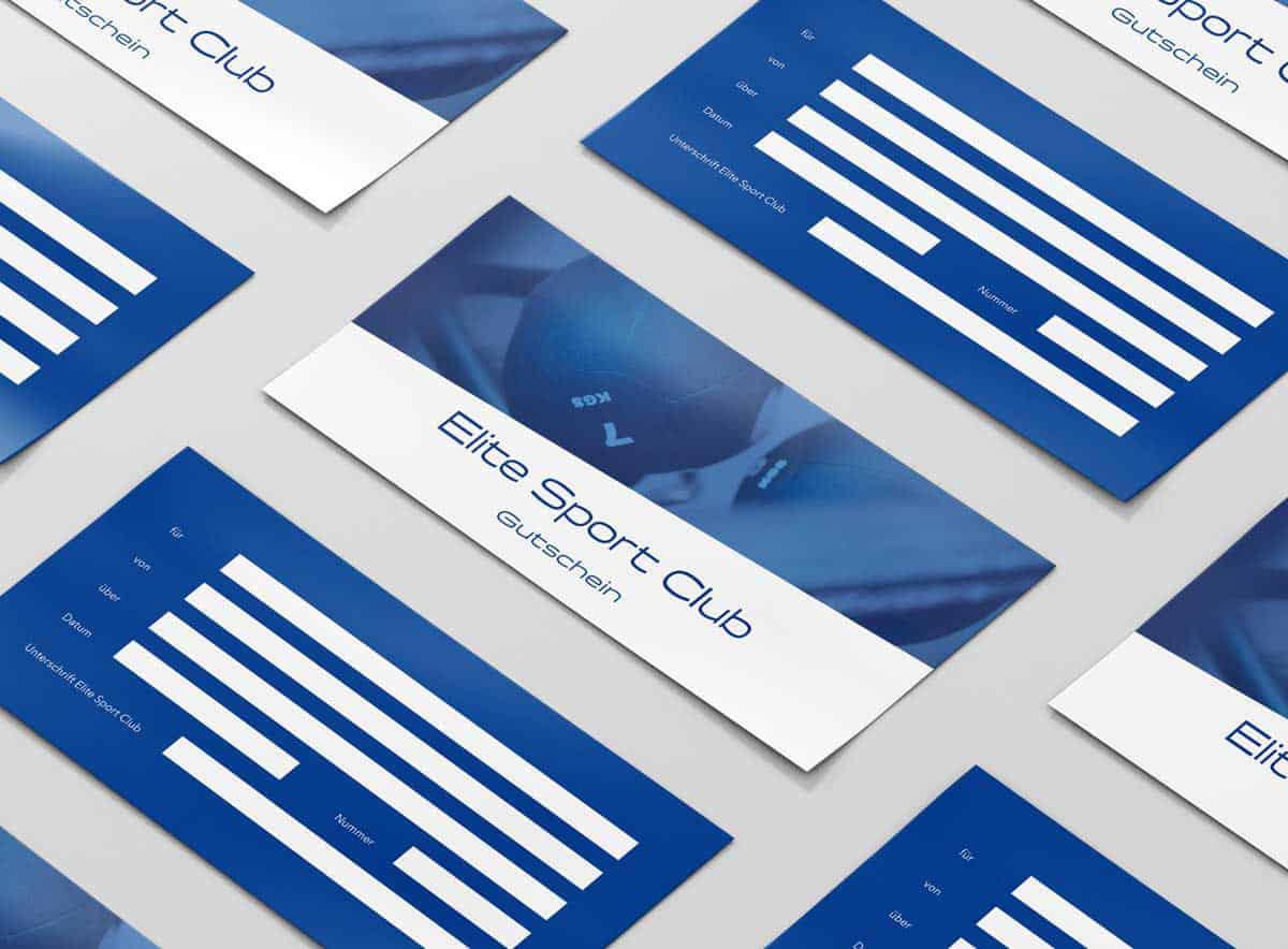 Design Gutscheine Elite Sport Club